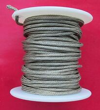 10 Ft PRO GRADE Braided Shield Vintage Style Single Conductor Guitar/Pickup Wire