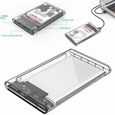 """ORICO 2.5""""Transparent 5Gbps USB3.0 to Sata3.0 HDD Case Tool Hard Drive Enclosure"""