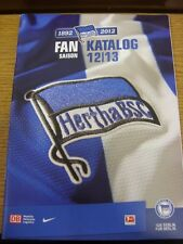 2012/2013 Hertha Berlin: Seaosn Guide/Handbook. Thanks for viewing our item, if