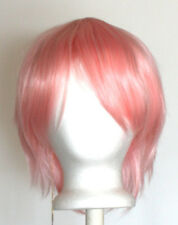 11'' Short Straight Layered Cotton Candy Pink Synthetic Cosplay Wig NEW