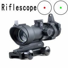 ACOG Style 1x32 Red/Green Dot Sight w/ Iron Sights for Airsoft FULL METAL Scope