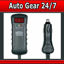RBA3 12v 24v LED Indicator Voltmeter Car Battery Althernator Tester With DC Plug