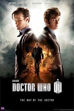 DOCTOR WHO POSTER ~ DAY OF THE 24x36 TV DR Matt Smith David Tennant Credits