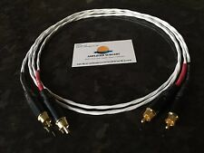 4FT SILVER PLATED PHONO RCA INTERCONNECT CABLE ACCUPHASE or KRELL AMPLIFIERS USA
