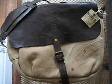 NEW RRL RALPH LAUREN Leather Shoulder Messenger Bag Mail Carrier Bag MSRP $895