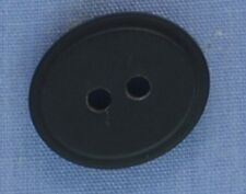 18mm Black Oval 2 Hole Button