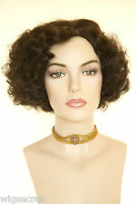 Stunning Finger Wavy Style Short Skin Top Costume Wigs 1920's flapper look