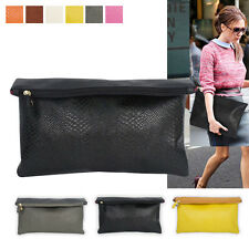 NEW KOREA Womens Oversized Envelope Purse Clutch Bags Handbag Large