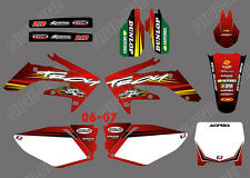 TEAM GRAPHICS BACKGROUNDS DECALS STICKERS For HONDA CRF250 CRF250R 2006 07 D3
