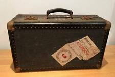 SS Britannia 1939 Vintage Luggage Steamer Case/Trunk with original travel labels