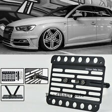 For 12-14 Audi A3/S3 8V Front Bumper Tow Hook License Plate Relocator Bracket