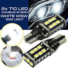 2 Stück T10 W5W High Power CAN-Bus LED Standlicht mit 15x SMD LED weiß 6000k