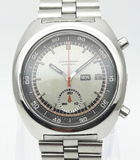 Vintage Seiko Chronograph Automatic 6139-7002 Day Date Japan Men's Wrist Watch