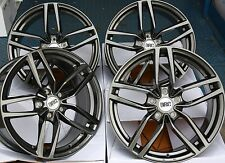 "18"" GM DRS ALLOY WHEELS FITS JAGUAR X TYPE S TYPE XF XJ XK J43 ALFA ROMEO 166"
