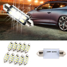 10pcs 39MM 5050 6SMD Festoon Wedge Dome Interior LED Light Bulb White New LA