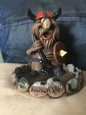 Limited Edition Quirky Norweigan Pottery Figure Of A Happy Viking Staniuliene ?