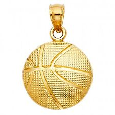 14KY BasketBall Ball Pendant