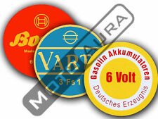 STICKER / AUFKLEBER BATTERY Batterie Akkumulator DKW NSU ZUNDAPP BMW BOSCH VARTA