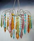 MultI Color Acrylic Large Prism Drop Chandelier w/Light Kit