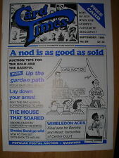 CARD TIMES MAGAZINE FORMERLY CIGARETTE CARD MONTHLY No 59 SEPTEMBER 1994