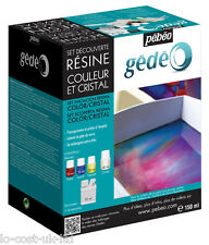 PEBEO GEDEO COLOUR & CRYSTAL RESIN DISCOVERY SET- IMITATES GLASS PASTE