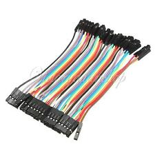 40Pcs 10cm Female to Female 1P-1P Color Breadboard Jumper Wire Cable for Arduino