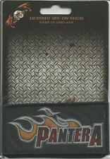 PANTERA Flames Logo Woven Patch Sew On Official Band Merch