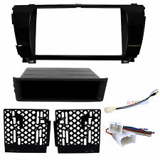 Radio Replacement Dash Mount Kit 2-DIN w/Pocket & Harness/Antenna for Toyota