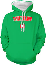 Switzerland Swiss Flag Nationalistic Heritage Country  2-tone Hoodie Pullover