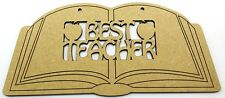 Meilleur professeur cadeau merci blank mdf craft forme livre comme apple