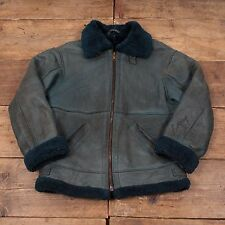 "Mens Vintage Sheepskin Shearling Leather B3 Flight Jacket M 42"" R4550"