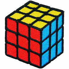 Rubik Cube Game Contests Toy Kids Children School Magic Iron-On Patches #TG003