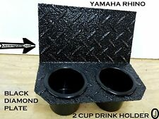 Yamaha Rhino 2 Cup Drink Holder Black Diamond plate Aluminum
