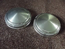 Vintage Plymouth Mopad Dog Dish Poverty Hubcaps - Pair