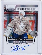 11-12 2011-12 CERTIFIED BEN SCRIVENS FRESHMAN SIGNATURES AUTO ROOKIE 174 LEAFS
