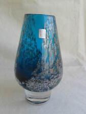 älterer schwere Glasvase mit Luftblasen Dekor Zwiesel Glas wohl 60er 70er Jahre