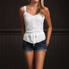 Hollister Womens Lace Tank Top Size XS Cami Shirt White
