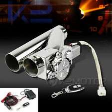 "Electric Exhaust Catback Downpipe Cutout E-Cut Valve System 2.5""+Remote"