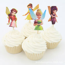 24pcs birthday Party Baking Supplies Little fairy Cakes decoration inserted card