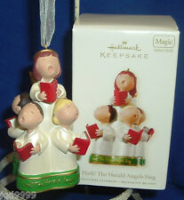 Hallmark Magic Ornament Hark The Herald Angels Sing 2008 Children Choir Sound