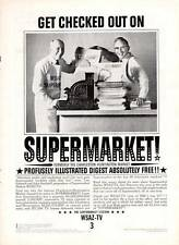"1962 ""The Supermarket"" Station Illustrated Digest WSAZ-TV PRINT AD"