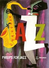 1950'S PHILIPS JAZZ RECORDS ADVERTISEMENT POSTER A3 REPRINT