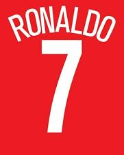 Ronaldo 7 Manchester United 2004-2005 Home champions league Football Nameset