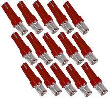 Lot de 15 ampoules T5 12V à LED rouges pour tableau de bord auto voiture