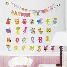 Animal Alphabet Removable Wall Sticker Home Kids Early Learning Nursery