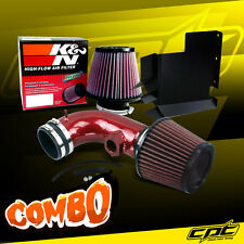 07-12 BMW 328i E90/E92/E93 3.0L 6cyl Red Cold Air Intake + K&N Air Filter