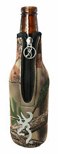 Koozie,Browning RealTree Camo Bottle Cooler,Can Huggie,Browning Buck Mark Logo