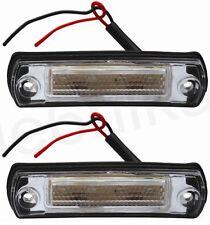 2x 24V Front Side Marker LED Lamp Light for MAN TGA Mercedes Travego (4 LED) NEW