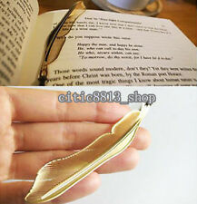 1Pc Charm Gold Plated Hollow Animal Feather Bookmarks Book Magazine Accessory CI