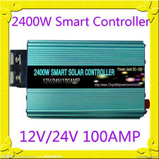 New~2400W Smart Solar Controller DC12V/24V, MPPT,100AMP, Solar Panel/Cooling Fan